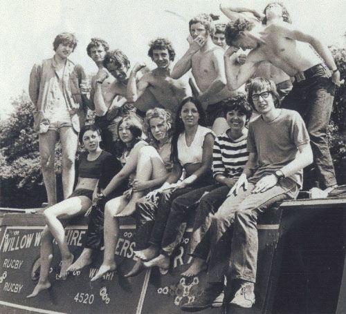 barge-trip-summer-1969-back-row-david-jones-trevor-burrows-ian-scaife-david-bal